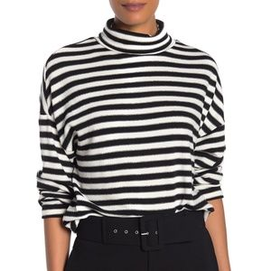 Sanctuary Nikolai Striped Turtleneck Top Small NWT